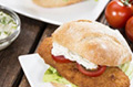 Scottish salmon fish finger sandwich