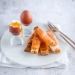 Egg and smoked salmon soldiers