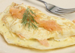 Smoked salmon omlettes: easy to make, healthy and really tasty.