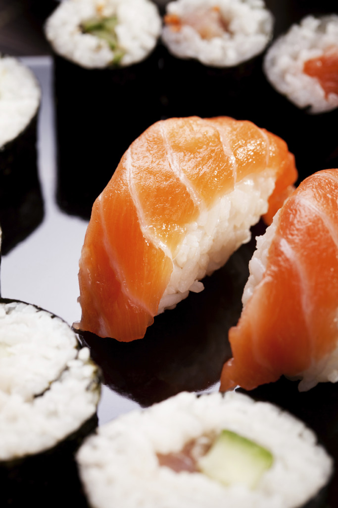 As easy as 1, 2, 3: John Ross Jr demonstrates how easy it is to make sushi at home with these three recipes