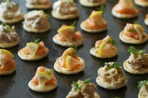There's more to smoked salmon canapes than blinis. Here are two innovative recipe ideas that are guaranteed to get your guests talking.