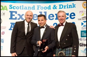 John Ross Jr's Managing Director, Christopher Leigh, collects the Fish and Seafood Award for the Balmoral Fillet