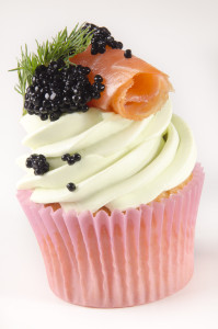 Smoked salmon cupcake, anyone? Smoked salmon doesnt alway have to be enjoyed as a savoury dish